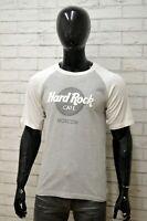 Maglia HARD ROCK MOSCOW Uomo Taglia S Maglietta Shirt Man Manica Corta Grigio