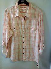 INDIGO COLLECTION Pure Cotton Turn Up Sleeve Shirt Size: 18