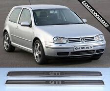 VW Golf Mk4 GTI (De 97 a 03) 2 puertas de acero inoxidable placas de Umbral Protectores/kick