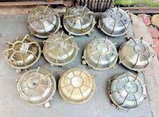 Vintage nautical marine ship brass round light 10 pieces 100% original