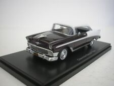 Chevrolet Bel Air Sport Coupe 1956 White/Dark Red 1/43 Neo 47035 New