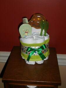 Diaper Cake Mini Winnie the Pooh Brush & Comb, Spoon & Teething Ring