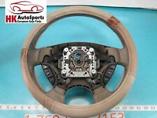 JAGUAR X-TYPE LEFT DRIVER SIDE STEERING WHEEL W/LEATHER WOOD COVER W/CONTROLS