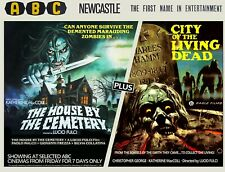 """HOUSE BY THE CEMETERY /  CITY OF THE LIVING DEAD repro quad poster 30x40"""" Fulci"""