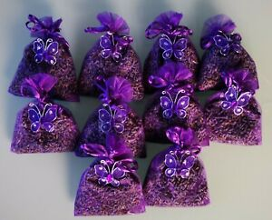 LAVENDER IN ORGANZA BAGS. SET 10 BAGS OF QUALITY LAVENDER FROM TASMANIA