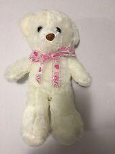 White Plush Glow In The Dark Teddy Bear