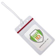Bulk 25 Pack-Wiederverschluss klar Kunststoff Gepäck ID Tasche Tags-passend für Visitenkarten