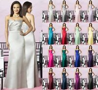 New Long Wedding Formal Evening Party Bridesmaid Ball Gown Prom Dress Size 6-18