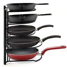 5-Tier Heavy-Duty Pot Pan Organizer Racks Cookware lids Holder Cabinet Workshop