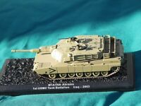 M1 ABRAMS M1A1HA HEAVEY ARMOUR TANK MILITARY DIECAST