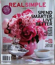 REAL SIMPLE Magazine LIFE MADE EASIER Spend Smarter LIVE BETTER