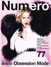 NUMERO #77 RAQUEL ZIMMERMAN Kate Moss JESSICA STAM Anja Rubik CLAUDIA SCHIFFER
