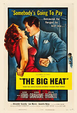 Film Noir: * The Big Heat * Glenn Ford & Lee Marvin  Movie Poster  1953