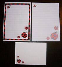Carino Kawaii COCCINELLE Coccinelle Lettera Set Cancelleria Carta da SCRIVERE