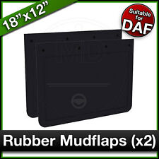 """DAF 18"""" x 12"""" (460 x 305mm) Truck Lorry RUBBER MUDFLAPS Mud Flap Guard PAIR"""