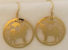 Akita Jewelry Wire Earrings by Touchstone Dog Designs
