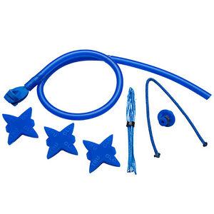 New TruGlo Archery Bow Accessory Kit Blue w/ Peep Loop Kisser Silencers TG601C