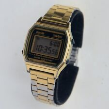 Vintage Phasar Sears LCD Gold Tone Men's Watch With  Adjustable Band New Battery