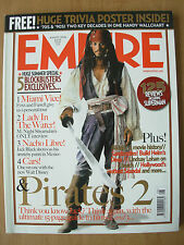 EMPIRE FILM MAGAZINE No 206 AUGUST 2006 PIRATES OF CARIBBEAN 2 & TRIVIA POSTER
