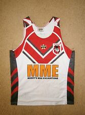 SMALL MENS ST GEORGE NRL TANK VEST TOP TRAINING TOP + 2009 T SHIRT