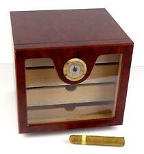 Humidor Schrank Cabinet braun für ca 60 Zigarren Angelo Acrylpolymere-Befeuchter