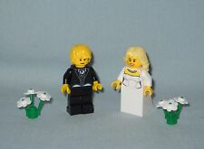 NEW LEGO WEDDING BLONDE HAIR BRIDE AND GROOM MINIFIGURES FOR CAKE TOPPER