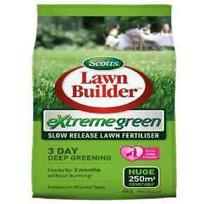 Scotts LAWN BUILDER EXTREME GREEN LAWN FERTILISER Slow Release Granular, 4Kg