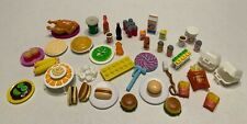 BARBIE Accessories Vintage Lot Food/Condiments/Sodas/Fast Food