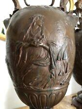 Vase bronze Barbedienne. Socle en marbre. Tres rare. Tres grande