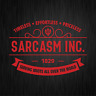 SARCASM INC. Sarkasmus Ironie Spaß Fun Rot Auto Vinyl Decal Sticker Aufkleber