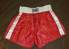 Everlast Vintage Usa Skinners Acetate Satin Boxing Trunks Shorts Xl
