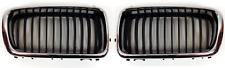 BMW 7 E38 1999-2001 2x PARRILLA / RIÑON Delantero Izquierda+Derecha Negro CROMO