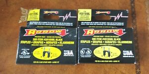 2 PACKS (600 total)  insulated Staples Arrow 591189BL black -- Made in USA