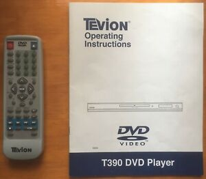Tevion T390 DVD Player Instruction Manual & Remote Control