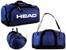 Heavyduty Training Gym Sports Football Duffle Travel Blue Holdall Head 58 L Blue