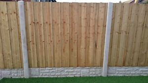 Supalap Pressure Treated & Tanalised Fence Panel 6ft W x 3ft to 6ft high