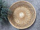 NICE Vintage Large Wicker Wall Basket Boho Farmhouse Home Decor rattan Storage