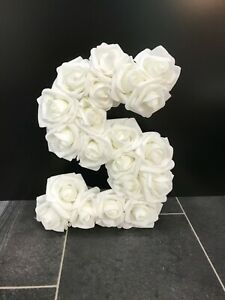 Foam Rose covered Personalised Letter 'S'