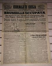 SECONDA GUERRA MONDIALE@BRUSSELLE OCCUPATA@SABATO 18/MAGGIO/1940@ R@RISSIMO!!!!!