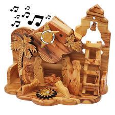 Olive Wood Nativity Scene Hand Made Musical Bethlehem Jesus Christmas Holy Land
