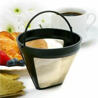 Maker Filter Coffee Filter Baskets Cafe Coffees Tool Gold Mesh With Handle Top