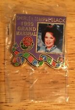 Official SHIRLEY TEMPLE BLACK 1999 Rose Parade Grand Marshal Pin - SEALED