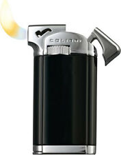 """COLIBRI CONNAUGHT II 2 """"BLACK LACQUER/ CHROME POLISHED"""" PIPE LIGHTER ** NEW **"""
