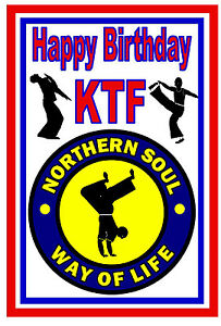 NORTHERN SOUL / MOTOWN BIRTHDAY CARDS (DANCERS) - GLOSS FINISH - BRAND NEW
