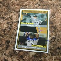 Jose Contreras Signed 2005 Topps Traded Auto Chicago White Sox