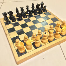 Chess Ussr Vintage Set Soviet Wooden Russian Full Tournament Rare Antique Board