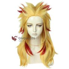 Anime Demon Slayer: Kimetsu No Yaiba Rengoku Kyoujurou Cosplay Hair Wig +Wig Cap