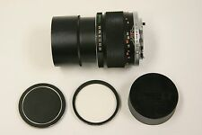 Olympus 135mm f3.5 manual focus lens with UV filter and both caps