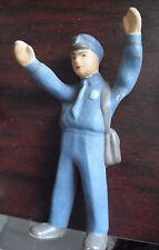 "Vintage Rubber Hand Painted Mailman Figurine 6"" Tall"