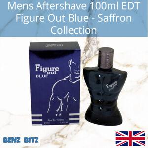 Figure Out Blue Mens Aftershave By Saffron 100ml EDT Eau De Toilette Spray